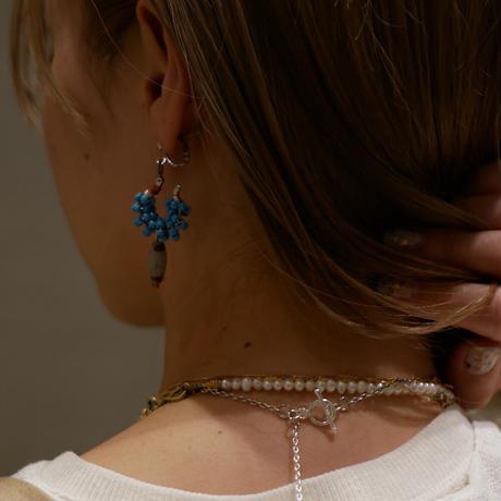 India grass pierce/earrings -aqua-