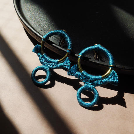rope pierce/earrings  VINTAGE TURQUOISE