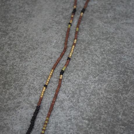 Ethiopian cross necklace -brick B-