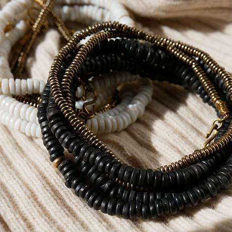 seeds double necklace MONO -black-