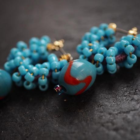 India grass pierce/earrings -asia blue -