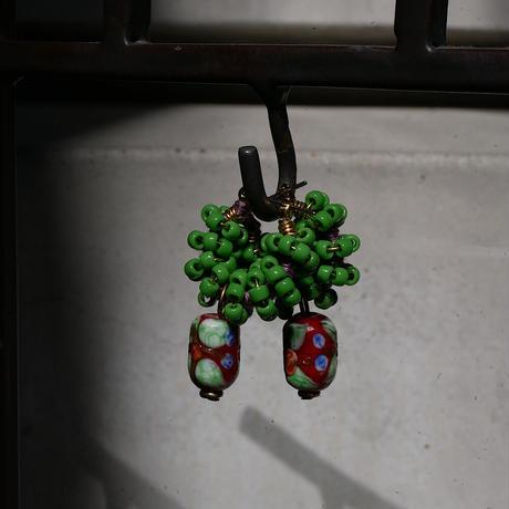 India grass pierce/earrings - green-