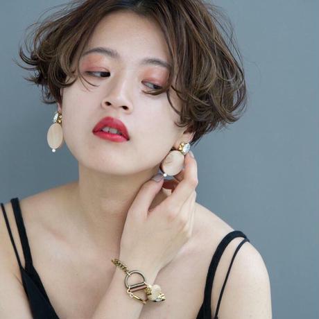 circle bijou pierce/earrings JAPANESE RED