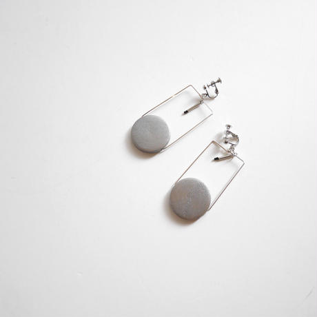 circle square pierce/earrings SILVER