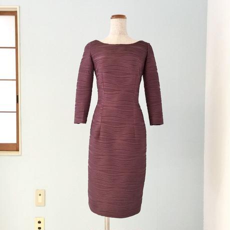 9号 紫オリジナルストレッチ袖付きワンピース