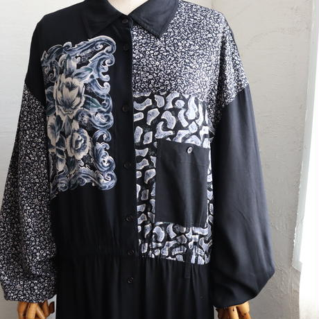 1990'S RAYON MAXI DRESS