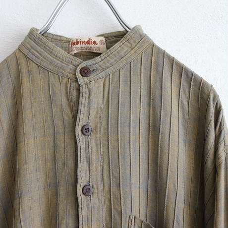 INDIA COTTON PULLOVER LONG SHIRT