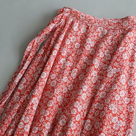 cotton wrap maxi skirt