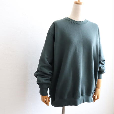 CREW NECK COTTON SWEAT SHIRT MADE IN USA