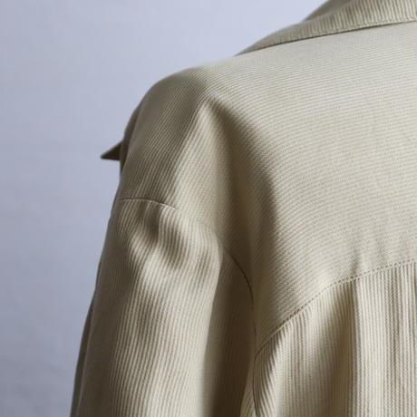 1980'S OPEN COLLAR SILK MAXI DRESS