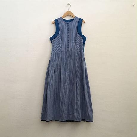 AUSTRIA TYROL STRIPE SLEEVELESS DRESS
