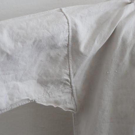 FRANCE ANTIQUE HOMESPUN LINEN SMOCK DRESS
