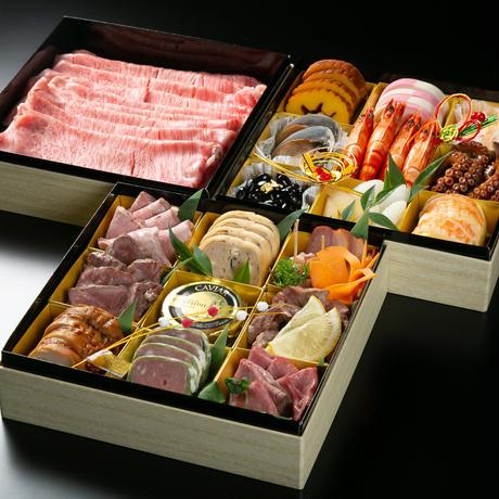 【引換券】肉おせち3段重(10月末まで早期ご予約特典付き)