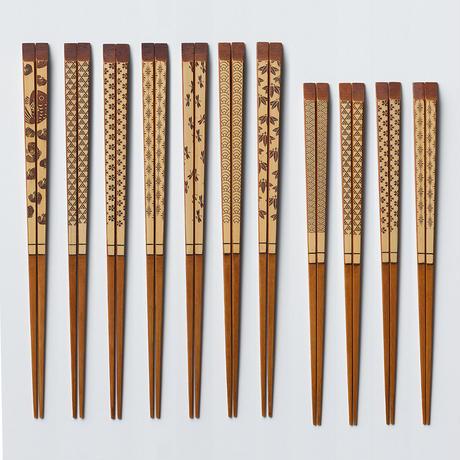 うるし白竹彫刻箸