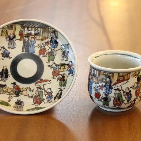 錦南蛮コーヒー碗皿 円左衛門