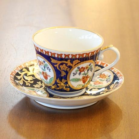 スクロールコーヒー碗皿 弥左衛門