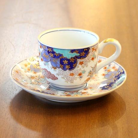 桜秋草コーヒー碗皿 弥左衛門