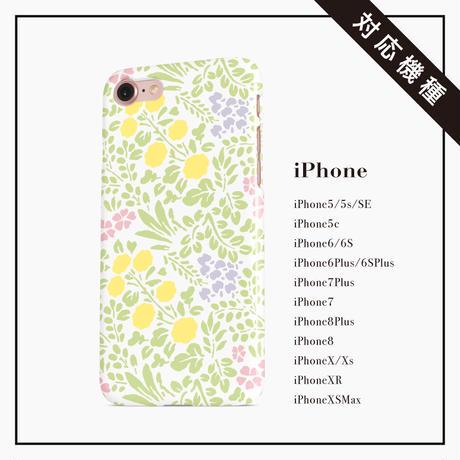 【しあわせ和柄スマホケース ハードケース型】山野草 <iPhone・Android>