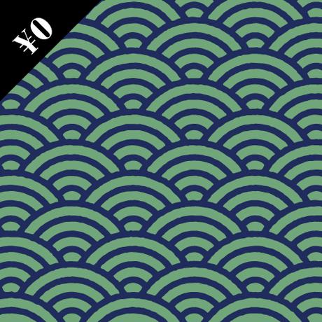 【基本の和柄無料素材】青海波(せいがは)