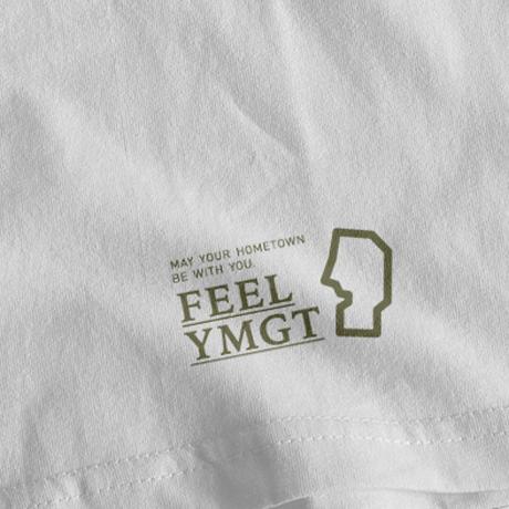 FEEL_YMGT  Dewasanzan_Tee       White×Sandkhaki    ※受注生産商品