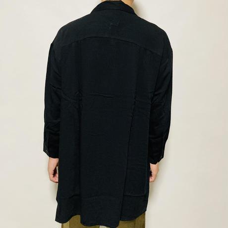 サイドボタンBIGシャツ(ブラック)