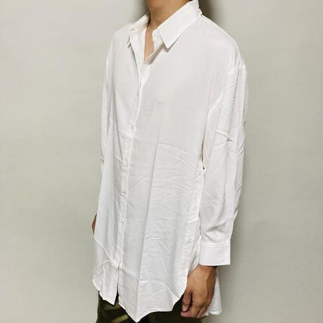 サイドボタンBIGシャツ(ホワイト)