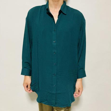 サイドボタンBIGシャツ(グリーン)