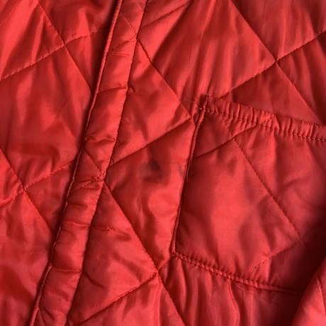 Quilting zip jacket RED