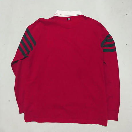 90s NAUTICA L/S Rugger Shirt RED
