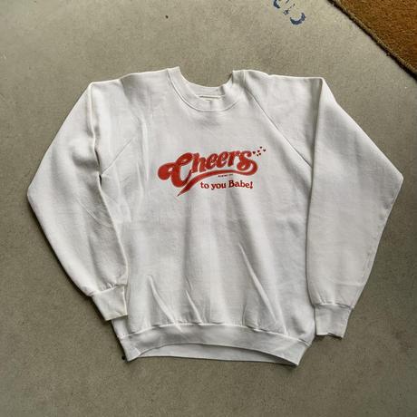 80s cheers sweat shirt WHT