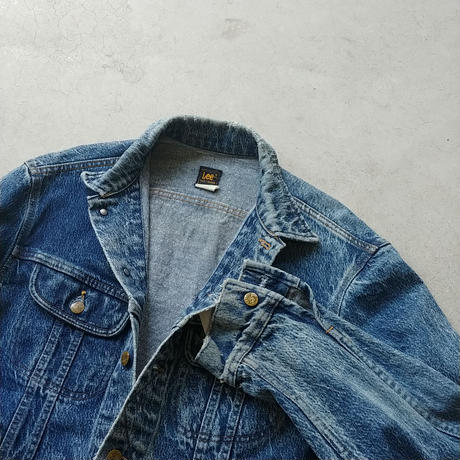 80s Lee Denim Track Jacket
