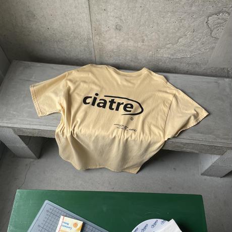 ciatre back logo tee S/S GLD