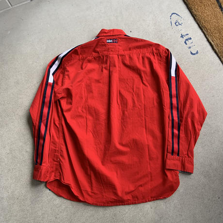 old tommy tape shirt RED
