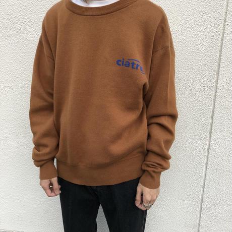 ciatre tilt logo knit sweater BRW