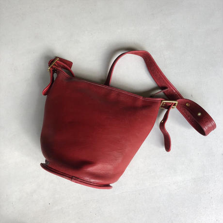 Old Coach Grab Leather Bucket Bag