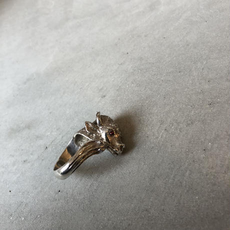 70s French Old Sheep Motif Ring
