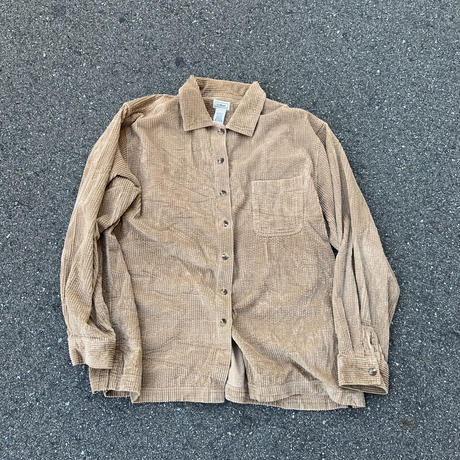 80s~ L.L.Bean Corduroy Shirt BEG