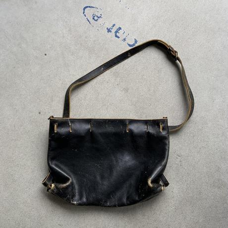 yohji yamamoto leather bag BLK