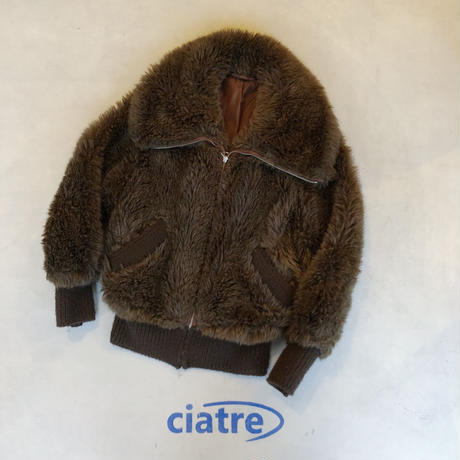90s  EURO fake fur blouson