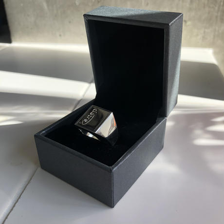 ciatre square college ring (silver)