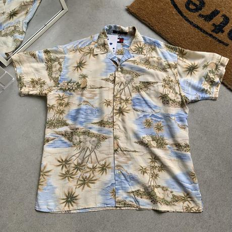 90s  tommy hirfiger aloha  shirt S/S