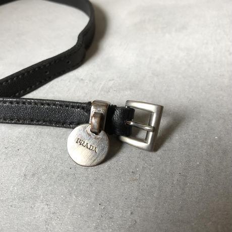 Old PRADA Leather Bracelet 00s