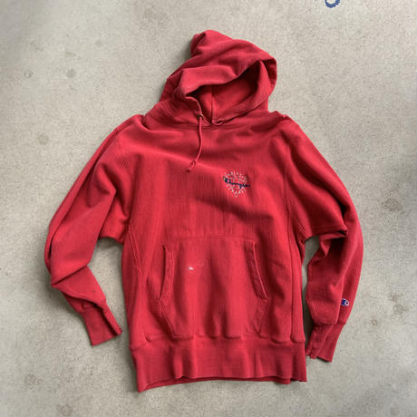 90s Champion REVERSE WEAVE Hooded Parka RED