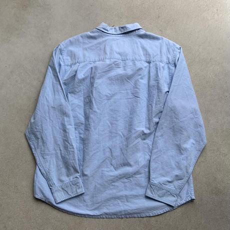 nautica cotton plain shirt BLK
