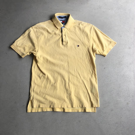 90s~ TOMMY HELFIGER S/S Polo Shirt YLW