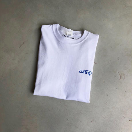 ciatre uniform tee L/S STAFF ONLY WHT
