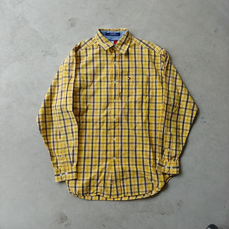 90s TOMMY HILFIGER Check L/S Shirt YLW