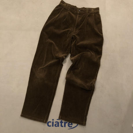 Old Corduroy wide Tack Pants