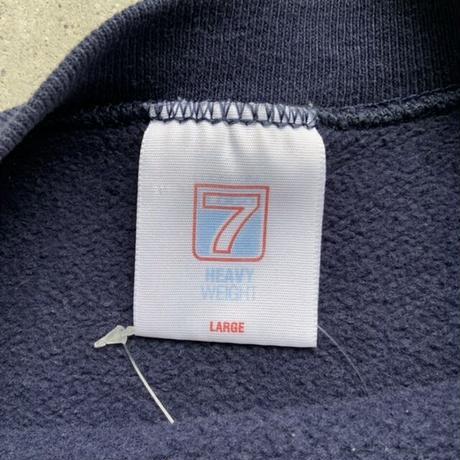90s collge logo sweat NVY