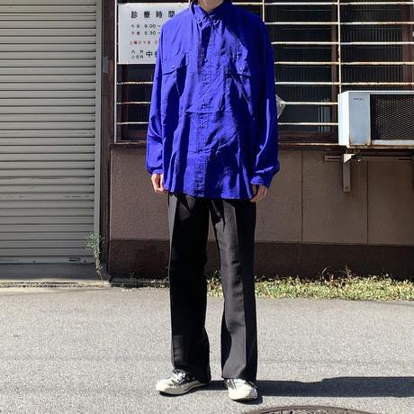 Fuzi ilks silk shirt BLU